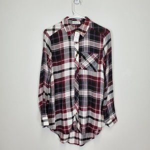 Maurices Relaxed Fit Tunic Plaid Top XS NWT
